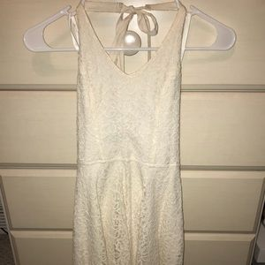 Abercrombie and Fitch cream lace skater dress